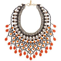 Etro Gold-plated, bead and Swarovski crystal necklace