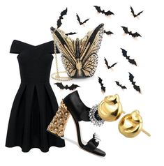 """gothic grace"" by jignashah on Polyvore featuring Miu Miu and Judith Leiber"