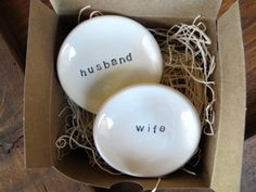 Husband and Wife ring dishes | Black and White Wedding Color Board - http://emmalinebride.com/color/black-and-white-wedding-color-board/