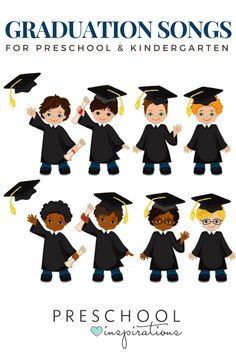 Need the perfect graduation songs for a preschool graduation or kindergarten graduation? Here are some great songs that children can sing for an end of the year graduation.