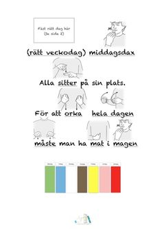 Matramsor-arkiv - Tecken som stöd - Toppbloggare på Womsa Learn Swedish, Swedish Language, Teaching Tips, Kindergarten, Preschool, Writing, Education, Learning, Google