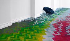 Herringbone parquet brick flooring - Raw Edges Design Studio