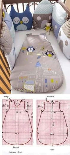 Make sure you take the right sleeping bag. Check out the Archer Outdoor Ger Ultra Light Duck Down Sleeping Bag. Baby Sewing Projects, Sewing For Kids, Sewing Crafts, Baby Knitting Patterns, Baby Patterns, Quilt Baby, Sleep Sacks, Baby Crafts, Baby Bibs