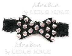 punk rock gothic heavy metal studs baby girl headband new baby