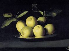Juan de Zurbarán - Bodegón de limones,1640 - Google Art Project (Real Academia de Bellas Artes de San Fernando)