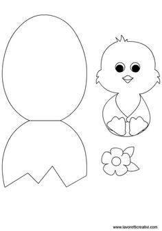 Easter craft template:
