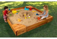 The Backyard Sandbox gives kids a perfect place to build sandcastles, dig for treasure and play with all of their favorite sand toys. Parents will love watching their kids have so much fun without even leaving the backyard.