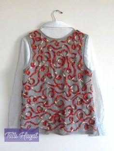 zincirişi yelek Baby Knitting Patterns, Freeform Crochet, Knit Crochet, Knit Fashion, Womens Fashion, Crochet Jacket, Crochet Clothes, Sweater Cardigan, Outfits