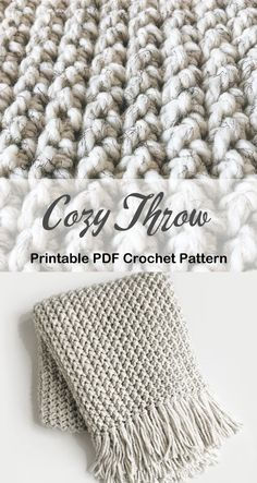 Crochet blanket pattern - crochet afghan pattern - crochet throw pattern - A Crafty Life #crochet #crochetpattern Crochet Afghans, Crochet Throw Pattern, Afghan Crochet Patterns, Crochet Stitches, Free Crochet, Knitting Patterns, Crochet Blankets, Knitted Throw Patterns, Crochet Blanket Tutorial