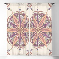 Vintage mandala pattern Blackout Curtain Blackout Windows, Blackout Curtains, Mandala Pattern, Curtain Rods, Tapestry, Throw Pillows, Vintage, Hanging Tapestry, Tapestries