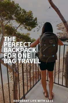 Whether it's a long weekend up north or four weeks in Europe, this backpack is perfect. Eliminate the excess, travel with less and experience so much more!