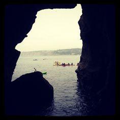 Kayak inside the La Jolla Caves  San Diego, California