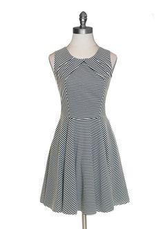 Classic Pinstripe Dress