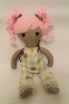 Handmade Princess Doll Soft Cloth Doll Rag by LilFoxxyCreations, $30.00