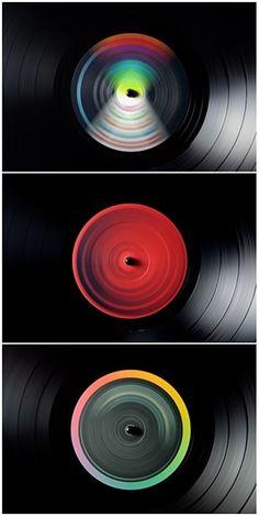 wonderful spinning vinyl photography