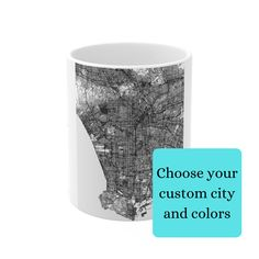 Unique Custom Any City Map Mug | Unique Custom Map Gifts | Special Map Office Mug | Special Custom Map Keepsakes | Custom City Map Gifts #mapmugs #personalmapgifts #uniquecoffeemug Condolence Gift, Sympathy Gifts, Sister In Law Gifts, Gifts For Dad, Funeral Gifts, City And Colour, Sweet Messages, Unique Coffee Mugs, Custom Map