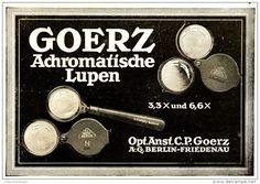 Original-Werbung/ Anzeige 1922 - GOERZ AUTOMATISCHE LUPEN - 140 x 90  mm