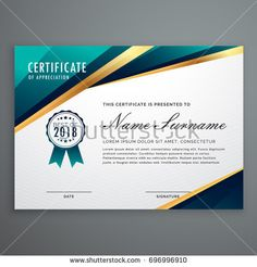 certificate design with luxury golden shapes. diploma template