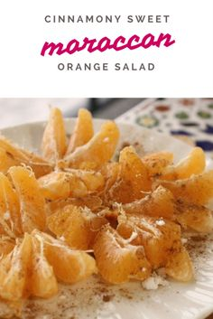Salads in Morocco are a big deal. When mandarins are in season, this Cinnamon Orange Salad is one of the easiest to throw together! Get the recipe here.