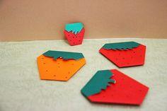 Strawberry いちご origami strawberry paper 折り紙 おりがみ
