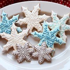 Snowflake Christmas Sugar Cookies
