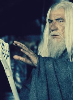 Gandalf the White pretending to be Gandalf the Grey Gandalf, Legolas, You Shall Not Pass, Jackson, Frodo Baggins, Between Two Worlds, Into The West, Jrr Tolkien, Dark Lord