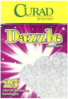 Curad Dazzle Bandage, 25 Bandages per Box,  (Pack of 6) - Free 2 Day Shipping