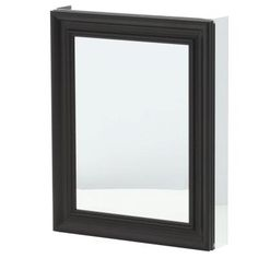 Pegasus 24 in. x 30 in. Recessed or Surface Mount Mirrored Medicine Cabinet in Espresso-SP4610 - The Home Depot
