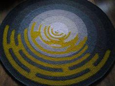 Large crochet round rug, 70'' (178 cm)/Crochet Rug/Rugs/Rug/Area Rugs/Floor Rugs/Large Rugs/Handmade Rug/Carpet/Wool Rug by AnuszkaDesign on Etsy