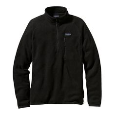 A rugged fleece, the Patagonia Men's Better Sweater® 1/4-Zip fleece pullover works well under a shell and doubles as a classic sweater. Check it out.