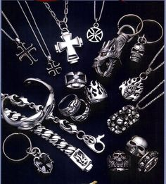 silver jewelry for men-silver jewelry collection for men