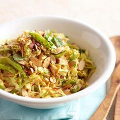 Asian Cabbage Salad with Peanut Butter Dressing