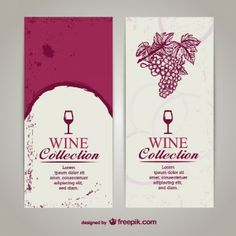 Vintage Wine Menu Design Document Template On Vectorstock  Wine