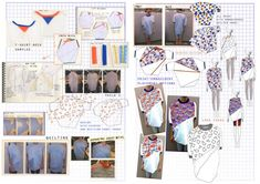 Fashion Sketchbook - design sketches, ideas and fabric manipulation developments; the fashion design process // Bryony Carrigan, Triangulation
