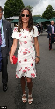 Pippa Middleton arrives on day one of the Wimbledon Championships at the All England Lawn ...