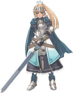 Awesome person, dies too quickly though, and I can't kill the stupid Chimera! Although my friend lost this game. Female Character Design, Character Creation, Character Art, Harvest Moon Game, Rune Factory 4, Nintendo, Dragon Knight, Fictional World, Best Bud
