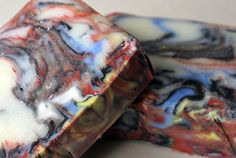 Lychee Red Tea swirled soap by burntmill on Etsy, $5.25