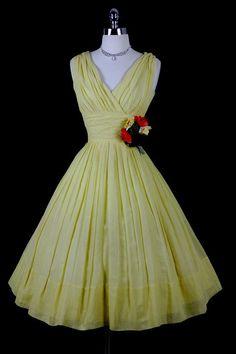 50's yellow dress