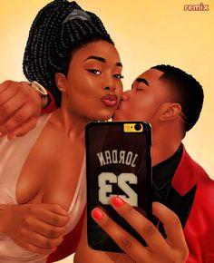 Black Love, Relationship, Romance, Dating, Black Couple Art, Black Love Couples, Black Girl Art, Black Women Art, Black Girl Magic, Black Love Artwork, Black Art Pictures, Art Of Love, Image Couple