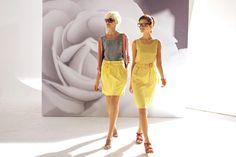 La robe à volants soie soleil et la jupe fluide soleil