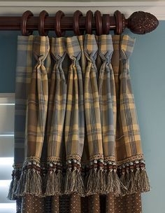 Attached Valance on Draperies Window Treatment... ♥♥ ...