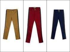New faux leather tux stripe pants coming this September! Stripe Pants, Khaki Pants, Autumn Fashion, Women's Fashion, September, Fall Winter, Van, Trends, Leather