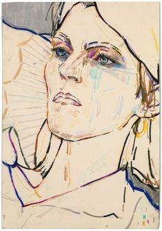 'Phoebe' (Phoebe Philo) by Elizabeth Peyton, 2015 androgynous women! interesting…