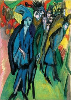"Sotheby's  Expressionist Berlin: ""Street Scene"" (1913) by Ernst Ludwig Kirchner will be auctioned by Sotheby's London, which expects it to f..."