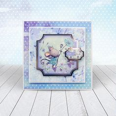 Card created using Hunkydory Crafts' A Mice Adventure Craft Stack Kirigami, Kanban Crafts, Hunkydory Crafts, Popsicle Stick Crafts, Popsicle Sticks, Handmade Birthday Cards, Handmade Cards, Card Companies, Craft Day