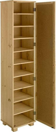 Tall Pine Shoe Cabinet with Mirror Door - Schuh Aufbewahrung Shoe Storage Cabinet With Doors, Shoe Cupboard, Storage Cabinets, Cabinet Doors, Shoe Rack With Doors, Shoe Storage Tall, Shoe Rack With Mirror, Shoe Cabinet Entryway, Shoe Cabinet Design