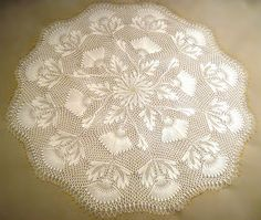 Ravelry: Lotus Flower pattern by Herbert Niebling Crochet Doily Patterns, Crochet Mandala, Lace Patterns, Crochet Doilies, Flower Patterns, Lace Knitting, Knitting Stitches, Knitting Patterns, Crochet Home