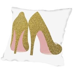 Found it at Wayfair - Grossular Gold Shoes Throw Pillow