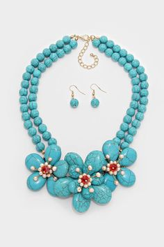 Turquoise Capri Necklace   Women's Clothes, Casual Dresses, Fashion Earrings & Accessories   Emma Stine Limited