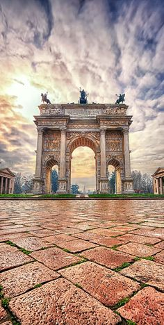 //Porta Sempione, Milan, Italy #travel #places #photography